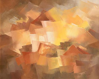 Gretta O'Brien, Autumn's Gold at Morgan O'Driscoll Art Auctions