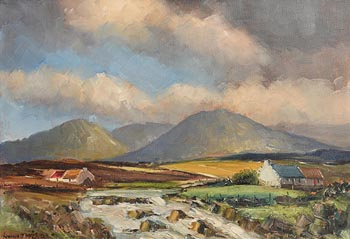 Norman J. McCaig, Twelve Pins, Connemara at Morgan O'Driscoll Art Auctions