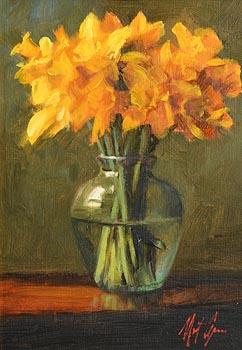 Mat Grogan, Daffodils at Morgan O'Driscoll Art Auctions