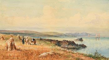 Alexander Williams, Harvesting (1887) at Morgan O'Driscoll Art Auctions