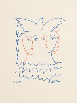 Pablo Picasso, Two Women and Dove (1980) at Morgan O'Driscoll Art Auctions