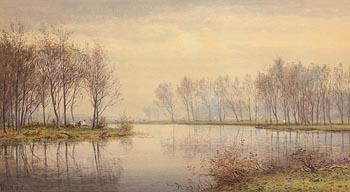 Henry Albert Hartland, Hazy Sunday Afternoon on the Shannon at Morgan O'Driscoll Art Auctions