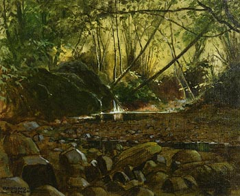 Padraig Lynch, Leafy Pool at Morgan O'Driscoll Art Auctions