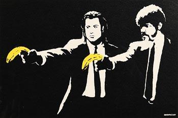 Banksy, Pulp Fiction at Morgan O'Driscoll Art Auctions
