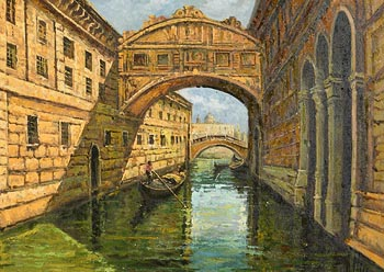 Loris Vendramin, Towards St Marks, Venice at Morgan O'Driscoll Art Auctions