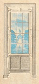 Robert Ballagh, View Towards the Campanile, Trinity College, Dublin (1983) at Morgan O'Driscoll Art Auctions