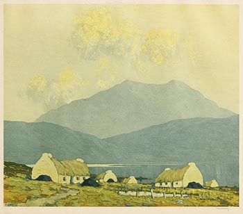 Paul Henry, Cottages, Connemara at Morgan O'Driscoll Art Auctions