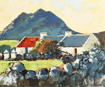 Denis Orme Shaw, Connemara Cottages at Morgan O'Driscoll Art Auctions