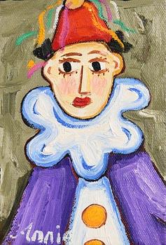 Annie Robinson, Clown in Purple at Morgan O'Driscoll Art Auctions