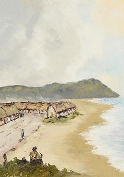 Tom Cullen, Dooagh Village, Achill Island at Morgan O'Driscoll Art Auctions