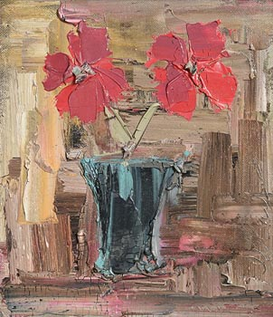 Colin Flack, Pink Flowers at Morgan O'Driscoll Art Auctions