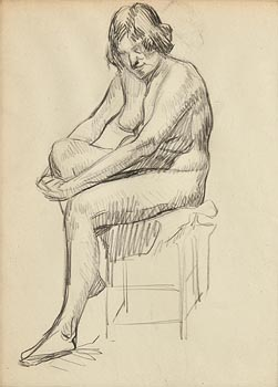 Roderic O'Conor, Seated Nude at Morgan O'Driscoll Art Auctions