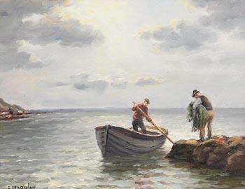 Charles J. McAuley, Netting the Salmon at Morgan O'Driscoll Art Auctions