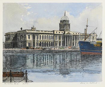 Flora H. Mitchell, The Customs House, Dublin at Morgan O'Driscoll Art Auctions