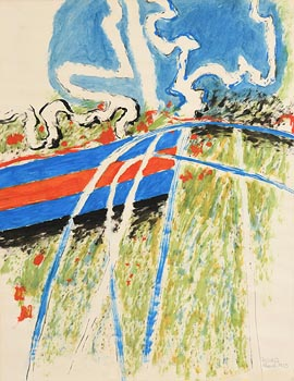 William Crozier, Abstract Landscape (1963) at Morgan O'Driscoll Art Auctions