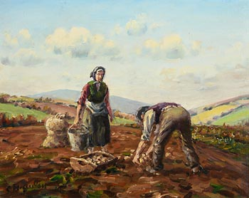 Charles J. McAuley, The Potato Pickers at Morgan O'Driscoll Art Auctions