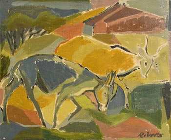 Elizabeth Rivers, Farmyard Scene at Morgan O'Driscoll Art Auctions