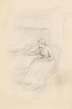 John Butler Yeats, The Carer at Morgan O'Driscoll Art Auctions