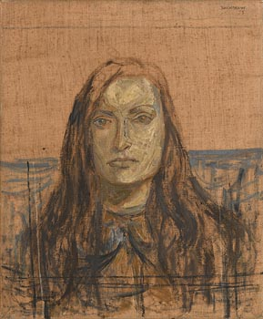 Basil Blackshaw HRHA RUA (1932-2016), Study for a Portrait (Head of Francis) (1955) at Morgan O'Driscoll Art Auctions