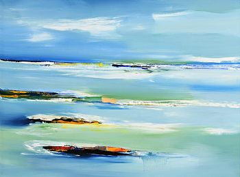Majella O'Neill Collins, Calm Sea's Sherkin (2018) at Morgan O'Driscoll Art Auctions