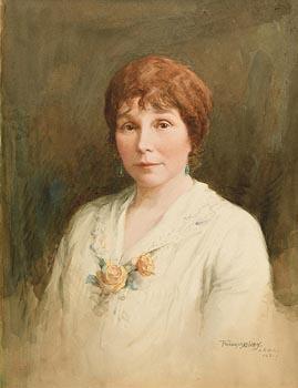 Frank McKelvey RHA RUA (1895-1974), Portrait of a Lady (1931) at Morgan O'Driscoll Art Auctions