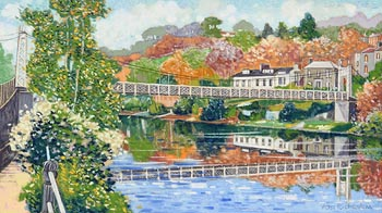 Victor Richardson, The Shaky Bridge, Cork City at Morgan O'Driscoll Art Auctions