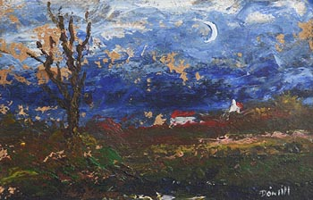 Daniel O'Neill, Cottage in Moonlight at Morgan O'Driscoll Art Auctions