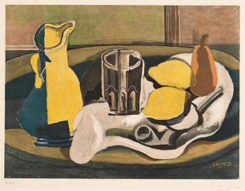 Georges Braque, Nature Morte au Citrons at Morgan O'Driscoll Art Auctions