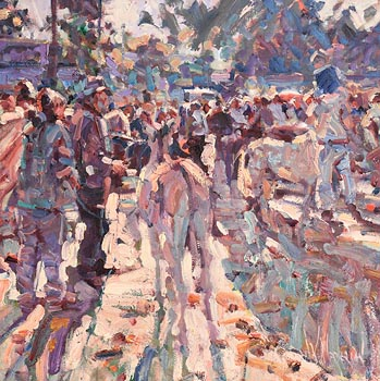 Arthur K. Maderson, Against Evening Light, Tallow Horse Fair at Morgan O'Driscoll Art Auctions