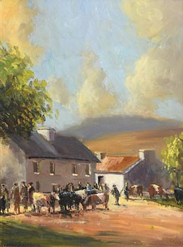 Norman J. McCaig, Market Day at Morgan O'Driscoll Art Auctions