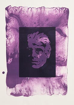 Louis Le Brocquy, Head of W.B.Yeats (1991) at Morgan O'Driscoll Art Auctions