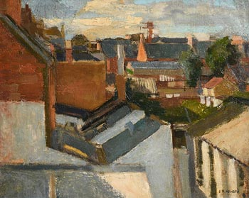 Ken Howard, Rooftops at Morgan O'Driscoll Art Auctions