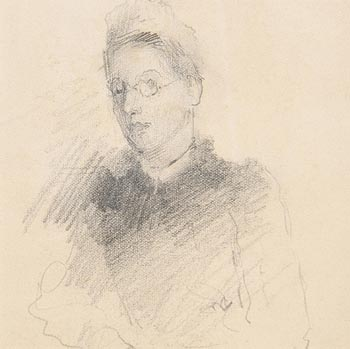 John Butler Yeats, Portrait of a Young Lady at Morgan O'Driscoll Art Auctions
