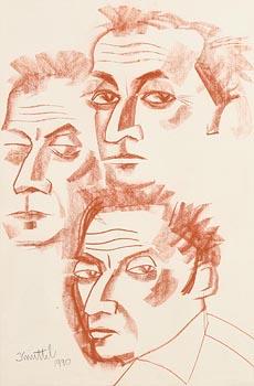 Graham Knuttel, Three Heads (1990) at Morgan O'Driscoll Art Auctions