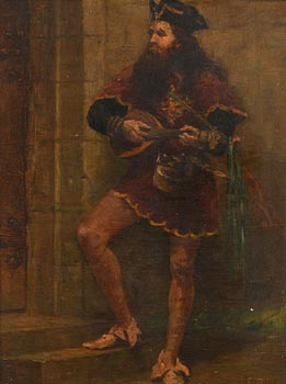 19th Century Continental School, The Court Jester at Morgan O'Driscoll Art Auctions