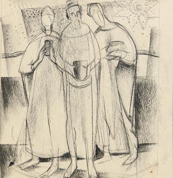 Barbara Warren, Three Wise Men at Morgan O'Driscoll Art Auctions
