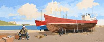 John Francis Skelton, Tea Break, Howth, Dublin at Morgan O'Driscoll Art Auctions