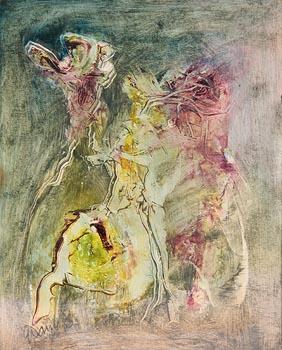 Gerald Davis, Companions (1985) at Morgan O'Driscoll Art Auctions