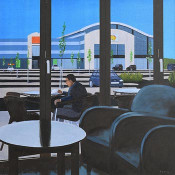 Tony Gunning, Coffee Shop in a Retail Park at Morgan O'Driscoll Art Auctions