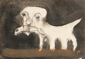 John Kingerlee, Dog and Fish at Morgan O'Driscoll Art Auctions
