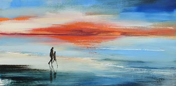 Paula McKinney, Sunset Stroll at Morgan O'Driscoll Art Auctions