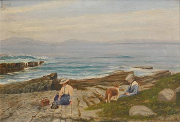 C.T Ovenden, By the Shore (1907) at Morgan O'Driscoll Art Auctions