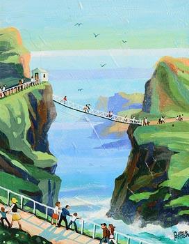 Cupar Pilson, Carrick-a-Rede Rope Bridge, Co. Antrim at Morgan O'Driscoll Art Auctions