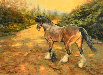 Senan O'Brien, Billy Barker's Clydesdale Stallion at Morgan O'Driscoll Art Auctions