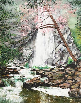 Charles Mountjoy, Powerscourt Waterfall, Co. Wicklow at Morgan O'Driscoll Art Auctions