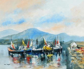 Niall Campion, Ballinakill Harbour, Co. Galway at Morgan O'Driscoll Art Auctions