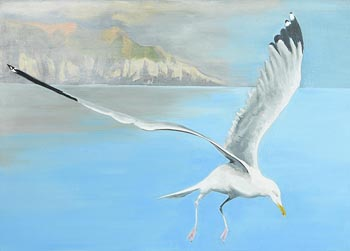 Brigid O'Connell, Clearing from the West, Sherkin Island at Morgan O'Driscoll Art Auctions