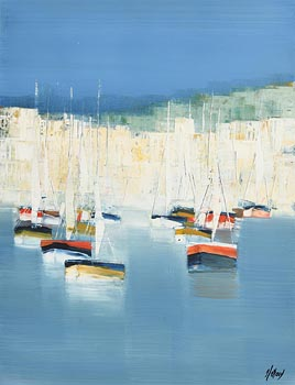 20th Century Continental School, Boats Against Sky at Morgan O'Driscoll Art Auctions