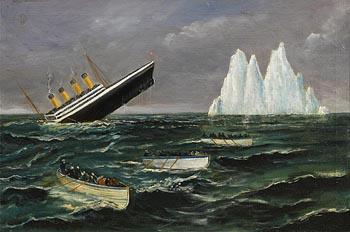T.H. John, The Titanic Sinking (1914) at Morgan O'Driscoll Art Auctions