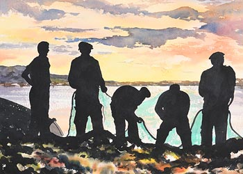 Harry Feeney, The Nets Men at Morgan O'Driscoll Art Auctions